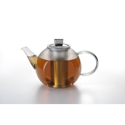 BonJour 1.2 Liter Harmony Teapot with Stainless Steel Shut Off Infuser