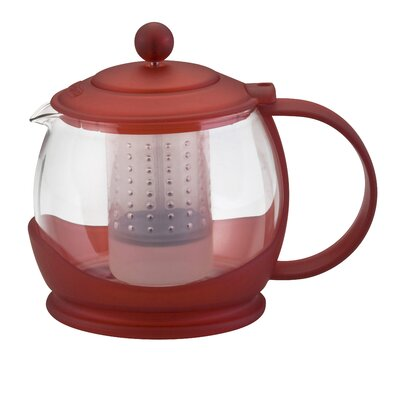BonJour Prosperity Teapot with BPA Free Shut Off Infuser in Red