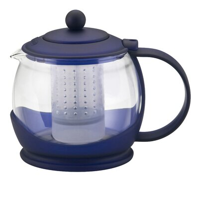 BonJour Prosperity Teapot with BPA Free Shut Off Infuser in Blue