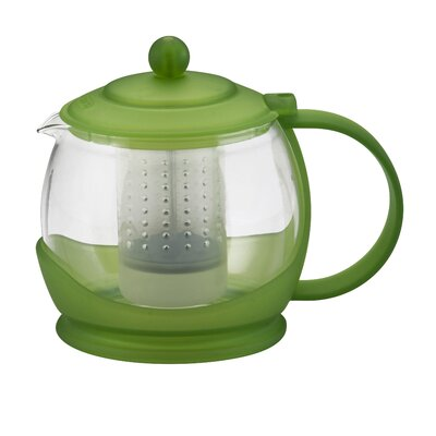 BonJour Prosperity Teapot with BPA Free Shut Off Infuser in Green