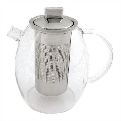 BonJour 42-Ounce Glass Teapot with Shut Off Infuser