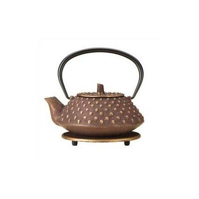 BonJour Hob Nail 27-Ounce Cast Iron Teapot with Stainless Steel Infuser