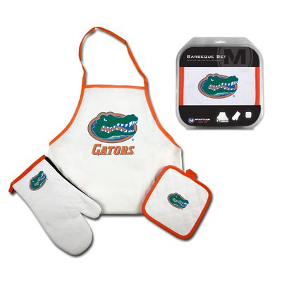 West Virginia Mountaineers 3 Piece BBQ Barbeque Set NCAA Team: Florida Gators R1002-TKCLM