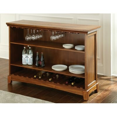 Martinez Bar with Wine Storage Finish: Oak