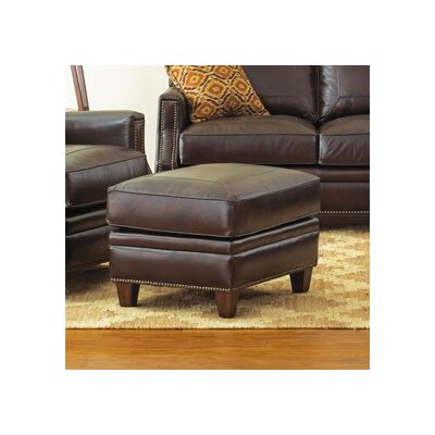Gravely Leather Ottoman