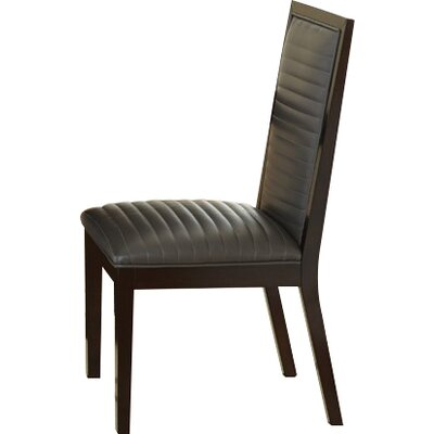 Antonio Side Chair (Set of 2) Upholstery: Charcoal
