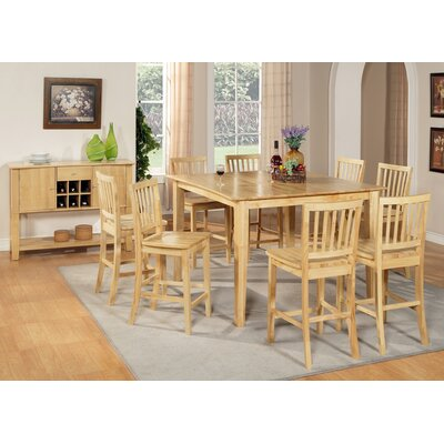 Steve Silver Furniture Branson 9 Piece Counter Height Dining Table Set in Natural Oak (SVV1888)