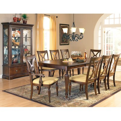 Steve Silver Furniture Ridgedale 9 Piece Dining Table Set in Multi-Step Rich Cherry (SVV1768)