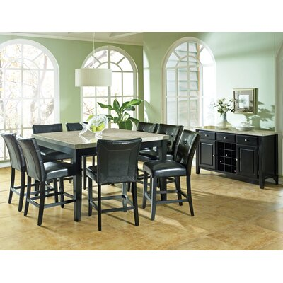 Marble Dining Room Furniture on Steve Silver Furniture Monarch 9 Piece Counter Height Dining Table Set