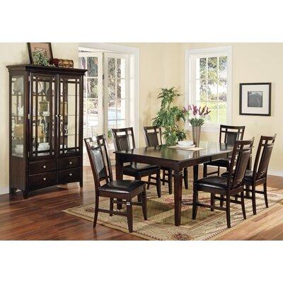 Steve Silver Furniture Deluca 7 Piece Dining Table Set In Multi Step Merlot Svv1731 Dining