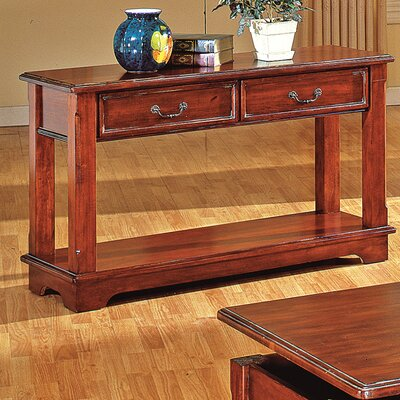Cheap Steve Silver Furniture Barrington Sofa Table in Multi-Step Rich Cherry (SVV1349)