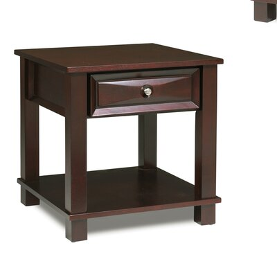 Rent Mason End Table Finish: Dark Cherry...
