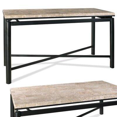 Cheap Steve Silver Furniture Paloma White Marble Top Sofa Table in Black (SVV1523)