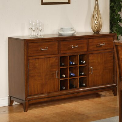 Cheap Steve Silver Furniture Harper Server in Multi-Step Rich Cherry (SVV1128)