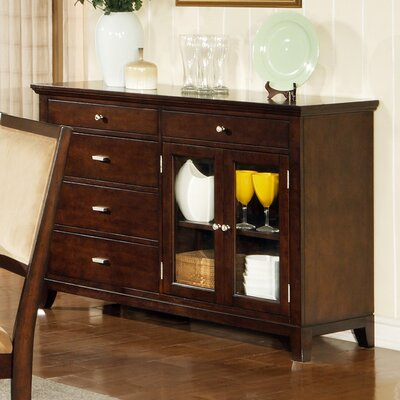 Cheap Steve Silver Furniture Kinsley Server Buffet in Multi-Step Rich Cherry (SVV1197)