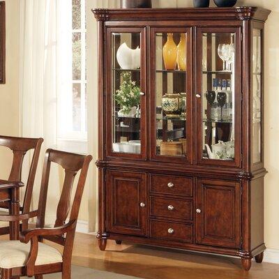 Cheap Steve Silver Furniture Kennedy Buffet and Hutch in Multi-Step Rich Cherry (SVV1909)