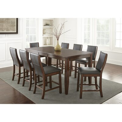 Abigale 9 Piece Counter Height Dining Set