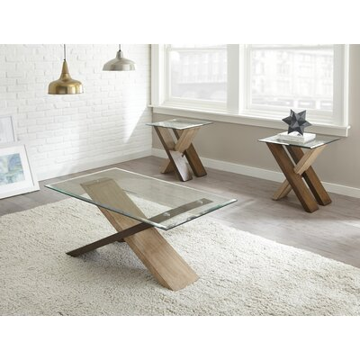 Cotaco 2 Piece Coffee Table Set