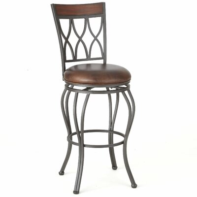 Malinda 46 inch Swivel Bar Stool with Cushion