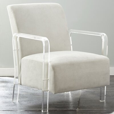 Everson Armchair Upholstery: Ivory