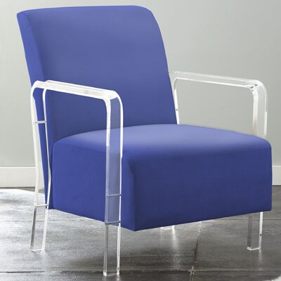 Collinson Arm Chair Upholstery: Blue