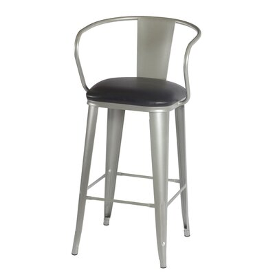 Maliyah 36 Bar Stool Finish: Silver