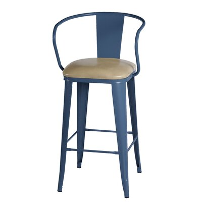 Maliyah 42 Bar Stool Finish: Navy