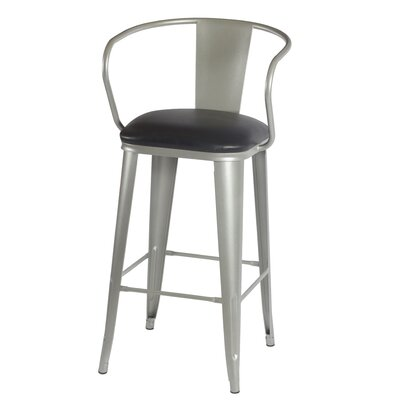 Maliyah 42 Bar Stool Finish: Silver