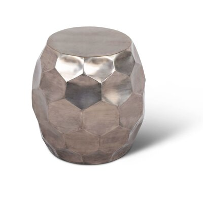 Coraline Round Nickel End Table