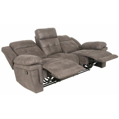 Rancourt Reclining Sofa Upholstery: Grey