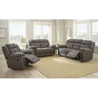 Rancourt Reclining Loveseat Upholstery: Grey