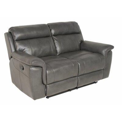Randel Reclining Loveseat Upholstery: Grey