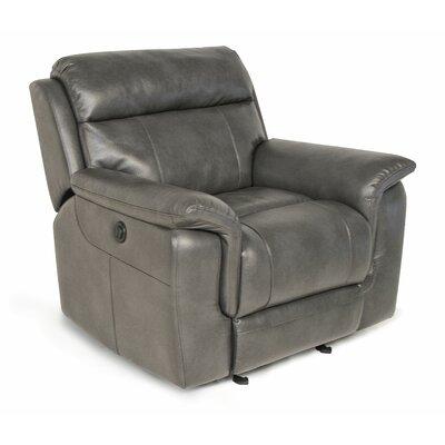 Randel Manual Recline Glider Recliner Upholstery: Grey