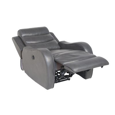 DuJuan Power Recliner Upholstery: Grey