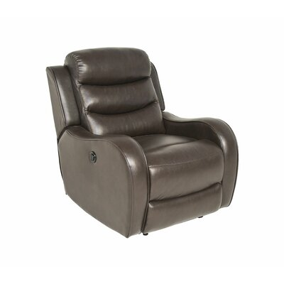 DuJuan Power Recliner Upholstery: Brown