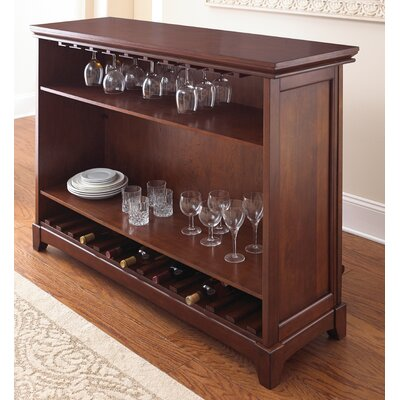 Martinez Bar with Wine Storage Finish: Cherry