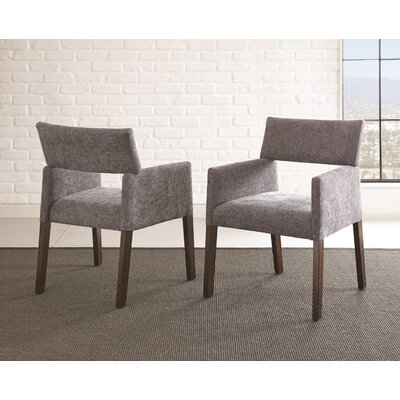 Barbee Upholstered Dining Chair (Set of 2) Upholstery Color: Gray