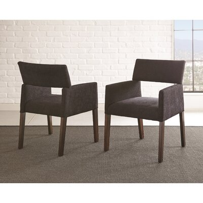 Barbee Upholstered Dining Chair (Set of 2) Upholstery Color: Black