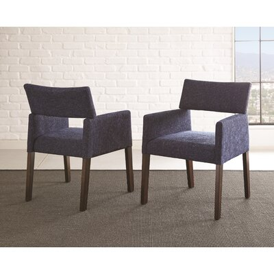 Barbee Upholstered Dining Chair (Set of 2) Upholstery Color: Navy
