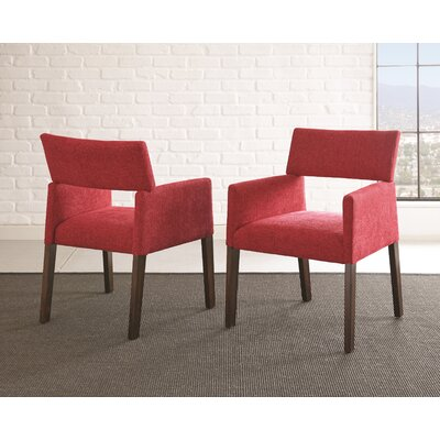 Barbee Upholstered Dining Chair (Set of 2) Upholstery Color: Red