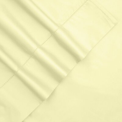 800 Thread Count Egyptian Quality Cotton Hemstitch Pillow Case Size: King, Color: Cashmere