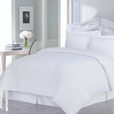Flannel 3 Piece Duvet Set Size: King, Color: White