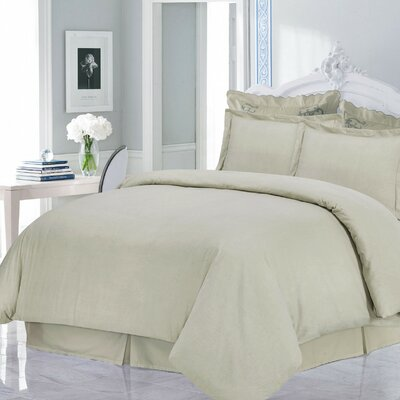 Flannel 3 Piece Duvet Set Size: Queen, Color: Linen