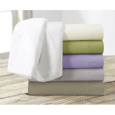 350 Thread Count Egyptian Cotton Percale Deep Pocket Sheet Set Size: Queen, Color: White