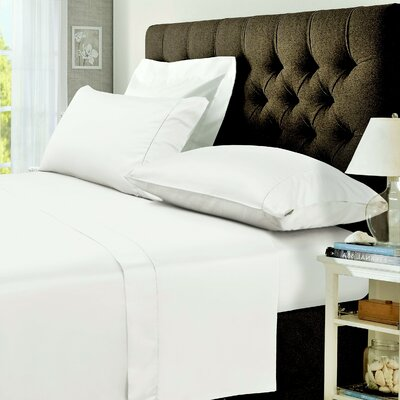 400 Thread Count Egyptian Quality Cotton Sateen Deep Pocket Sheet Set Size: Twin, Color: White