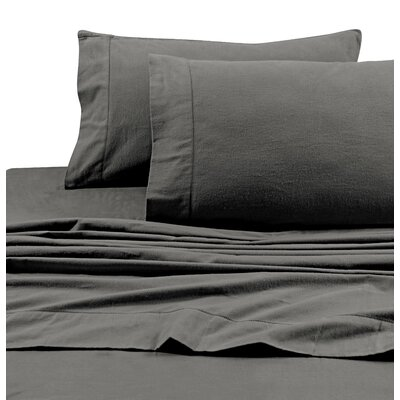 Flannel Solid Extra Deep Pocket Sheet Set Size: Twin Extra Long, Color: Grey