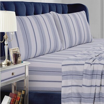 Stripe Cotton Sheet Set Size: Queen