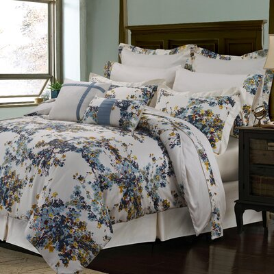 100% Cotton 12 Piece Reversible Comforter Set Size: Queen