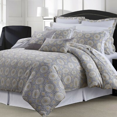 12 Piece Comforter Set Size: King, Color: Gray/Yellow