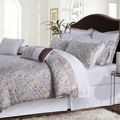 12 Piece Comforter Set Size: King, Color: Chocolate/Gray